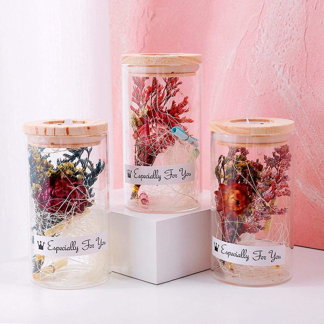 Zimrio Vase de Fleurs séchées Creative Glitter Verre décorer Ornements Cadeau de la Saint-Valentin Fleurs artificielles