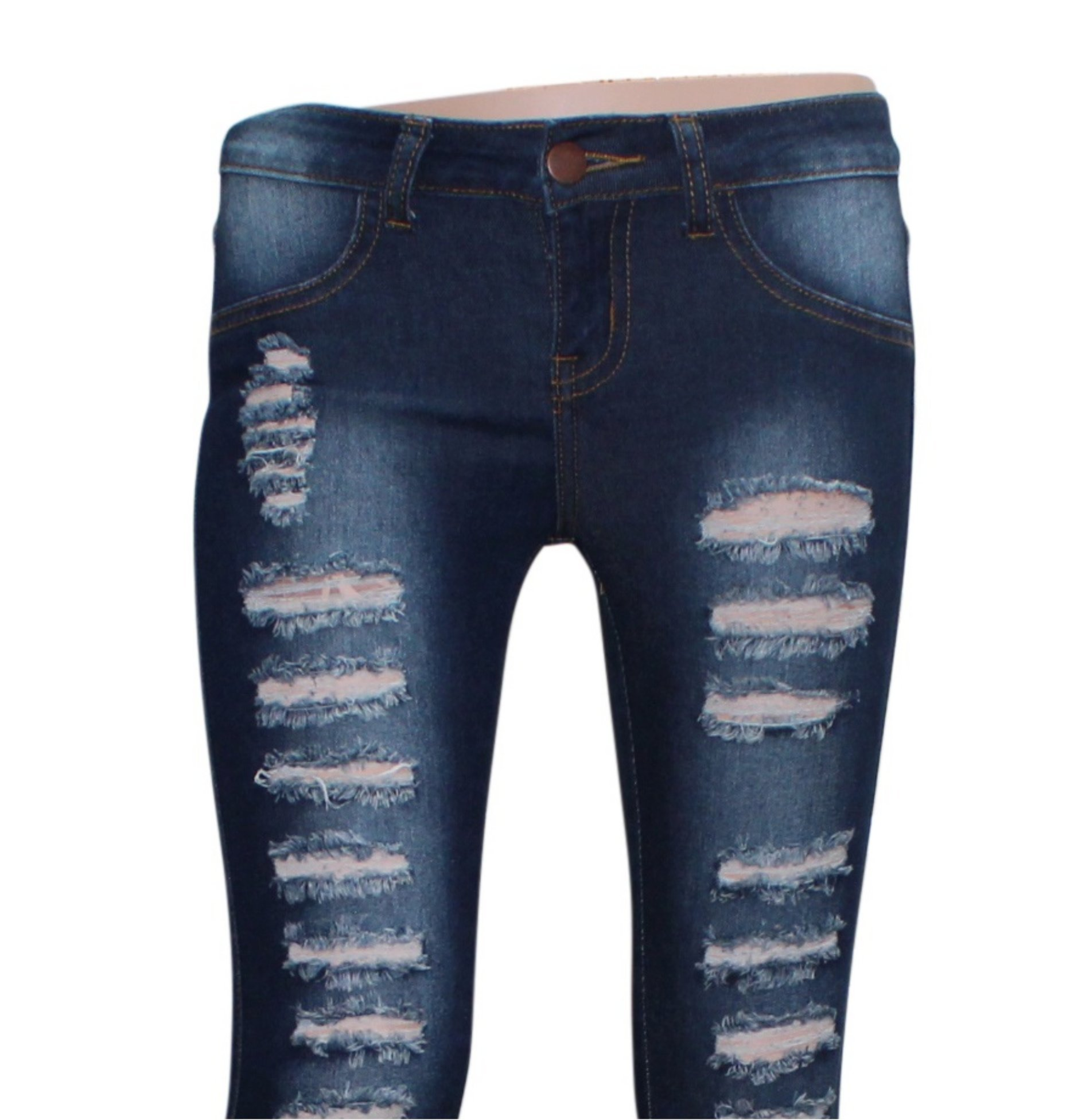 Teen G's Jeans and Twill for Girls by Skinny Jeans for Girls with Ripped Denim and Distressed Stretch Fabric Slim Fit Pants,kp33 (16, Black) by Teen G's (Image #4)
