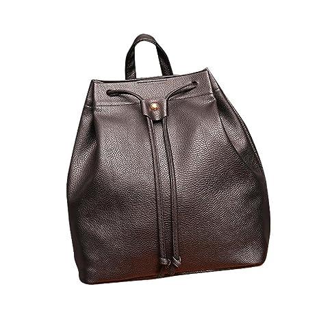 Mochila, Manadlian Bolsa de cubo de mujer Mochila Cordón de la moda Bolsa de viaje