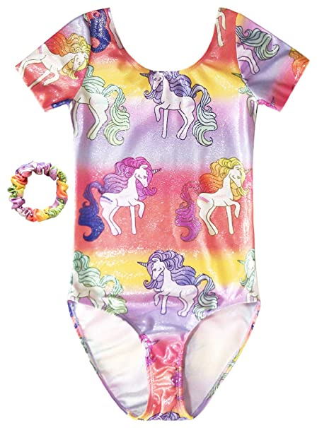 dd570666 Jxstar Kids Gymnastics Leotards Rainbow Unicorn Outfits for Girls  Activewear 3t 4t
