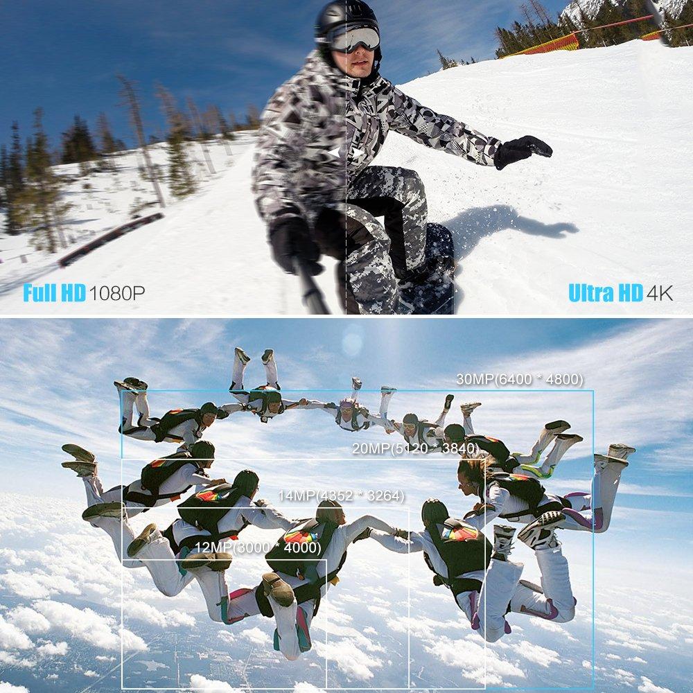Andoer 4K WiFi Action Camera HD 30MP