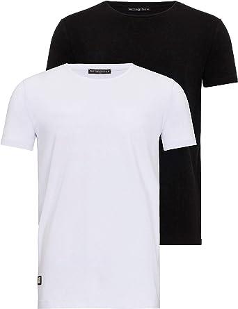 Red Bridge Paquete de 2 Camisetas básicas de Hombre de Cuello Redondo: Amazon.es: Ropa y accesorios