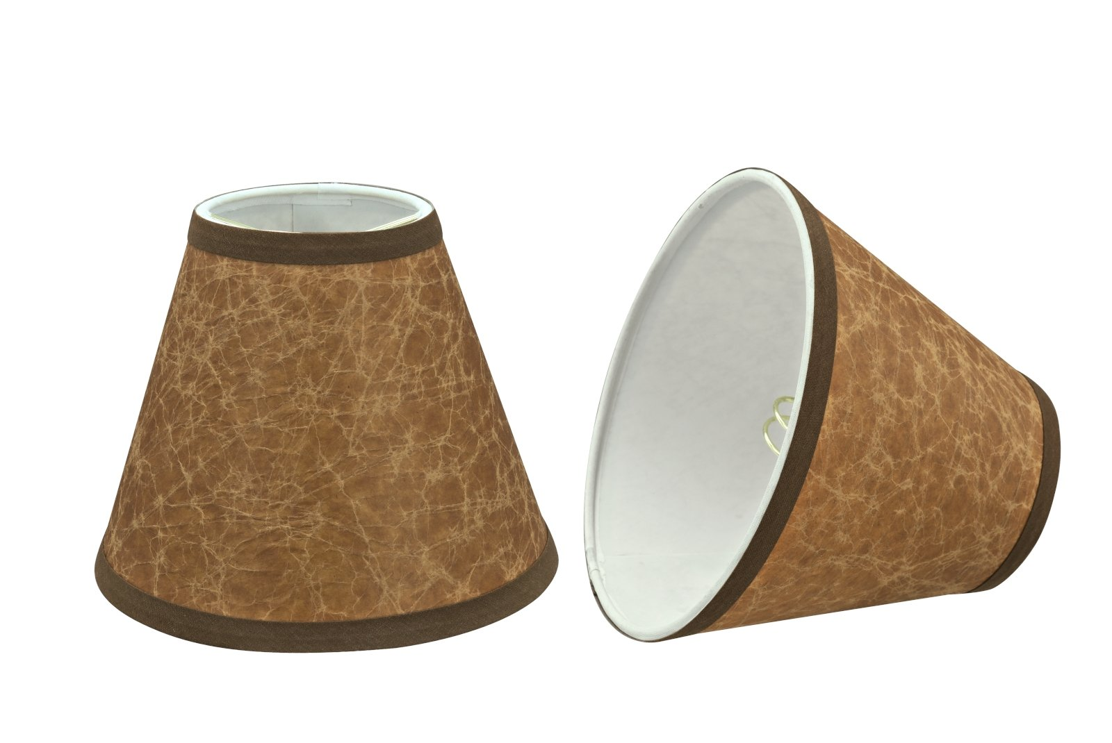 Aspen Creative 32117-2 Small Hardback Empire Shape Chandelier Clip-on Lamp Shade Set (2 Pack), 3'' x 6'' x 5'', Dark Brown