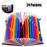 24 Pocket Expanding File Folder with Cloth Edge