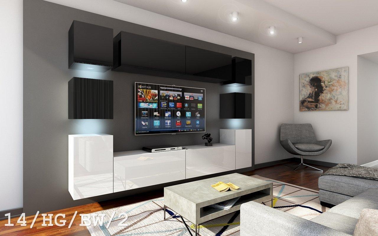 Future 14 Möbel Set Modernes Wohnzimmer, Waschtisch Wandtattoo TV ...
