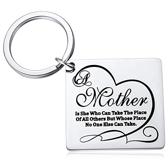 Christmas Ideas For Mom Mother Gifts From Son Daughter A Mother Is She Who Can Take The Place Of All Others But Whose Place No One Else Can Take Keychain Amazon In Clothing
