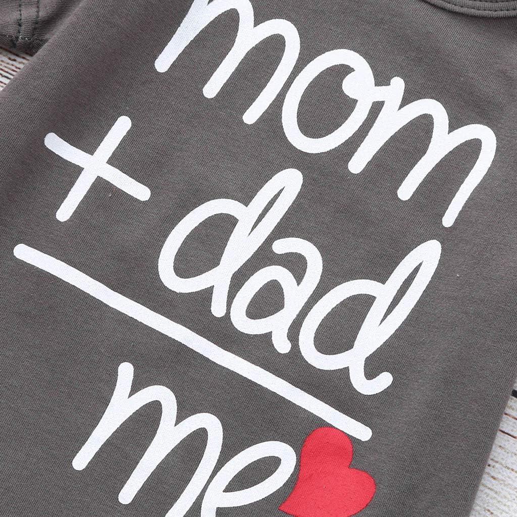SolwDa Baby Boy Clothes 0 3 Months Daddy Mommy Boys Printed Tops Bodysuit Toddler Newborn Girls Romper Costume