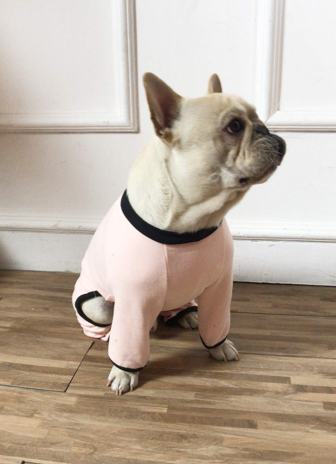 Pink XXXLWEIJ Pet Jumpers French Bulldog Jumpsuit Soft Warm Dog Jumpers Autumn Winter Dog Clothes for Medium Dogs Pug Bulldog (color   Pink, Size   XXXL)