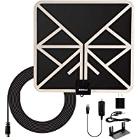 1byhome Amplified HD Digital TV Antenna with 18ft Coax Cable and USB Power Adapter