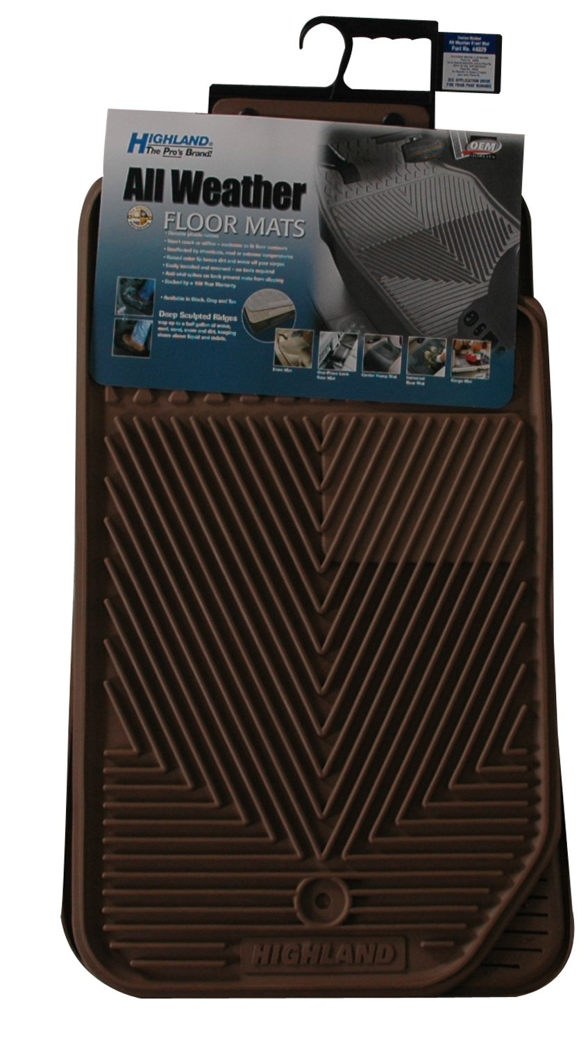 Highland 4402900 All-Weather Tan Front Seat Floor Mat Highland Group