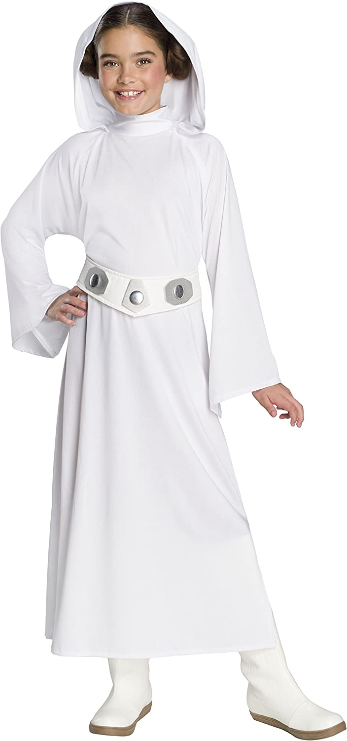 Rubie's Star Wars: Forces Of Destiny Child's Deluxe Princess Leia Costume, Medium