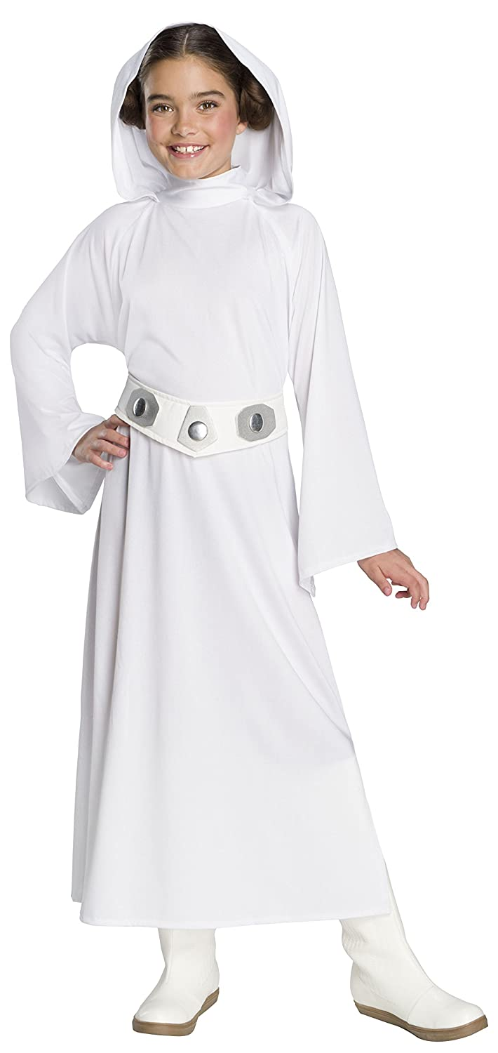Large Rubie/'s Costume Co 641368/_L Rubies Star Wars Forces Of Destiny Childs Deluxe Princess Leia Costume