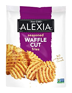 Alexia Seasoned Waffle Cut Fries, Non-GMO Ingredients, 20 oz (Frozen)