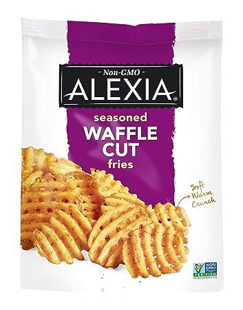 Alexia Seasoned Waffle Cut Fries, Non-GMO Ingredients, 20 oz (Frozen)