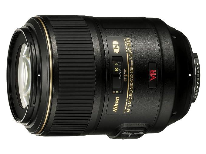 Nikon Obiettivo Nikkor AF-S VR II Micro-Nikkor 105 mm f/2.8G IF-ED, Nero [Nital Card: 4 Anni di Garanzia]