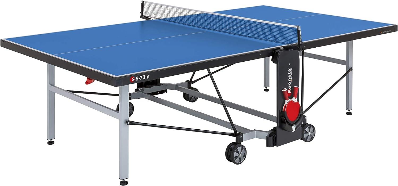Sponeta S 5-73 e Mesa de Ping Pong, Superficie de Juego Azul, Spielposition: L 274 cm x B (mit Netz) 187 cm x H 76 cm Abstellposition: L164 cm (mit Netz 187 cm) x B 72 cm x H 156 cm