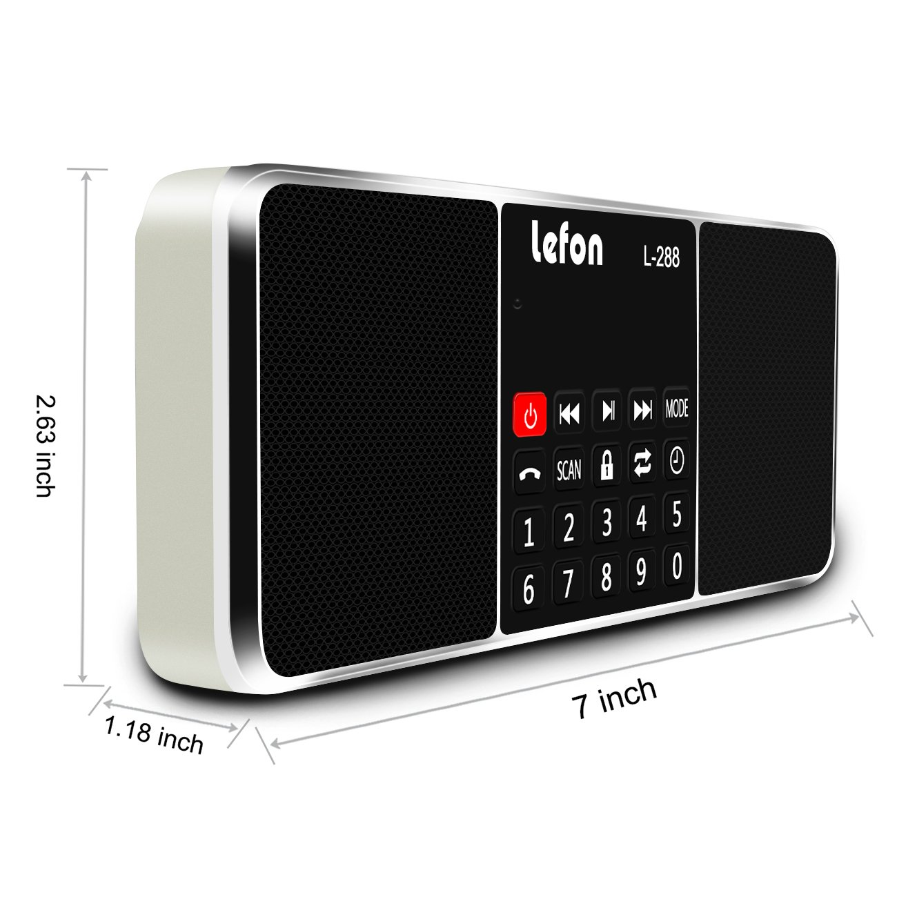 LEFON Multifunction Digital AM FM Radio Bluetooth Media Speaker MP3 Music Player Support TF Card/USB Disk with LED Screen Display and Setting Timing Shutdown Function (Gold-Upgraded Version) by Lefon (Image #7)