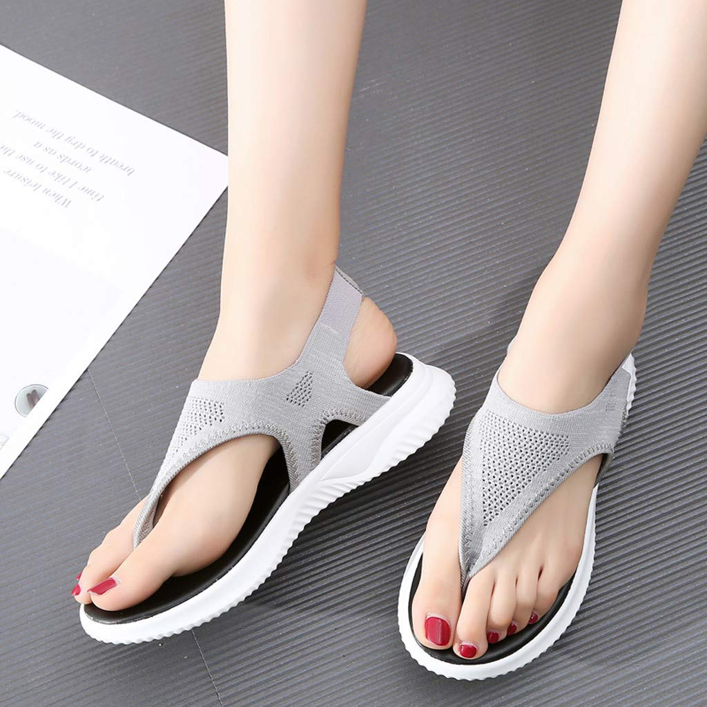 Women Thick Summer Flip Flop Shoes Clearance Sale, NDGDA Ladies Platform Roman Casual Flock Sandals by NDGDA Women Sandals (Image #7)