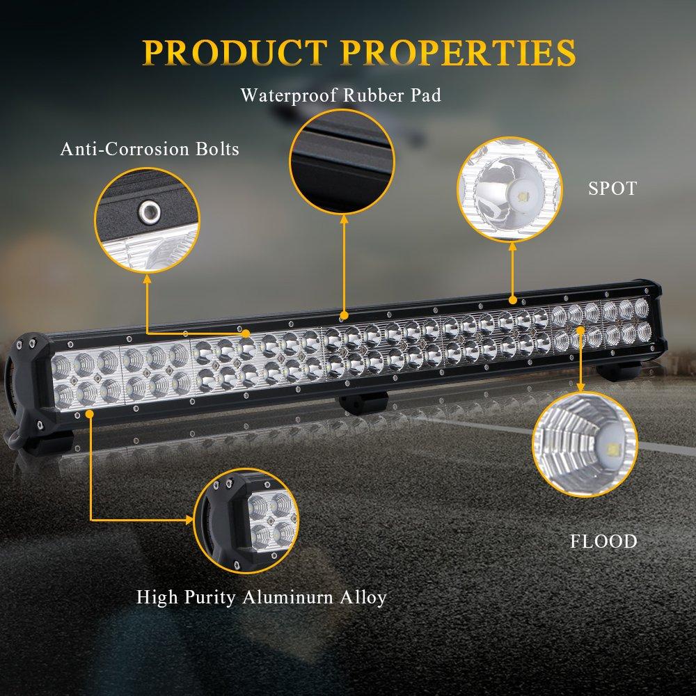 Curved 30 32 Inch 180w Led Light Bar 18000lm 6000k Waterproof Ip67 W Fog Toggle Switch Wiring 2pcs Lights 3lead Rocker Harness For Offroad Chevrolet Silverado