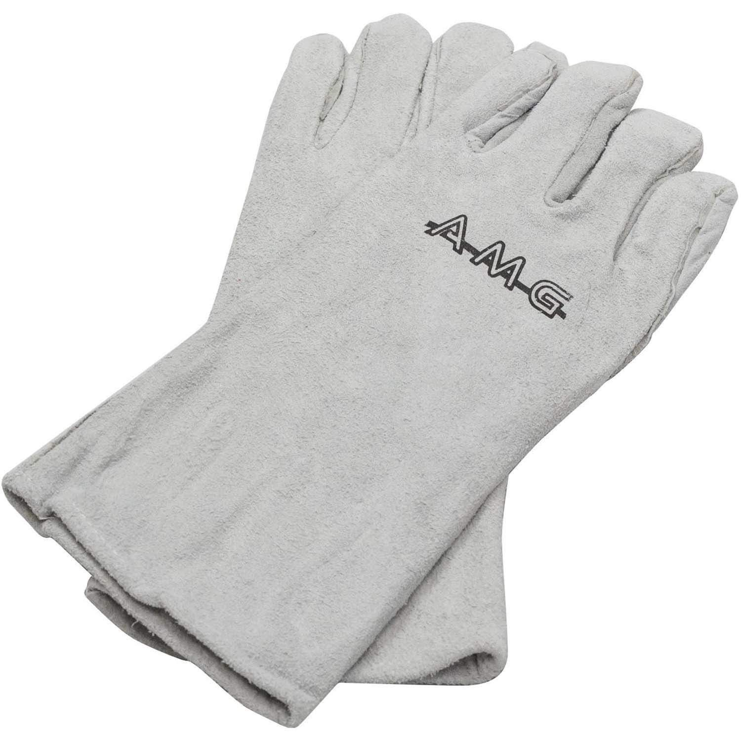 American Muscle Grill Leather BBQ Gloves - AMG-Gloves