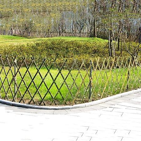 SUBBYE Valla De Jardín Expansible Instantánea De 71 Pulgadas De Largo, Cerca De Piquete De Bambú