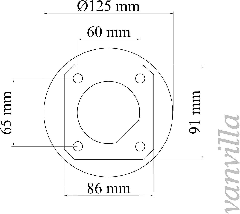 vanvilla Zubehör Seitenmarkise Bodenhalterung Wandhalterung NUR für Modell GRAU