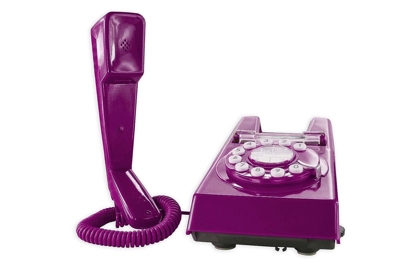 Geemarc Trimline Retro Style 2 Piece Corded Telephone Purple