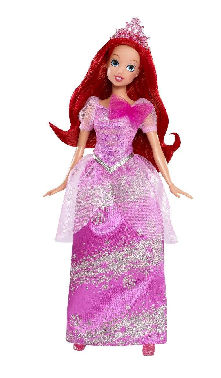 Princesas Disney - Muñeca Purpurina Ariel (Mattel W5550): Amazon.es ...
