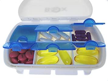 Amazoncom MIGHTY BOX Pill Box Pill Holder Large Pill Container