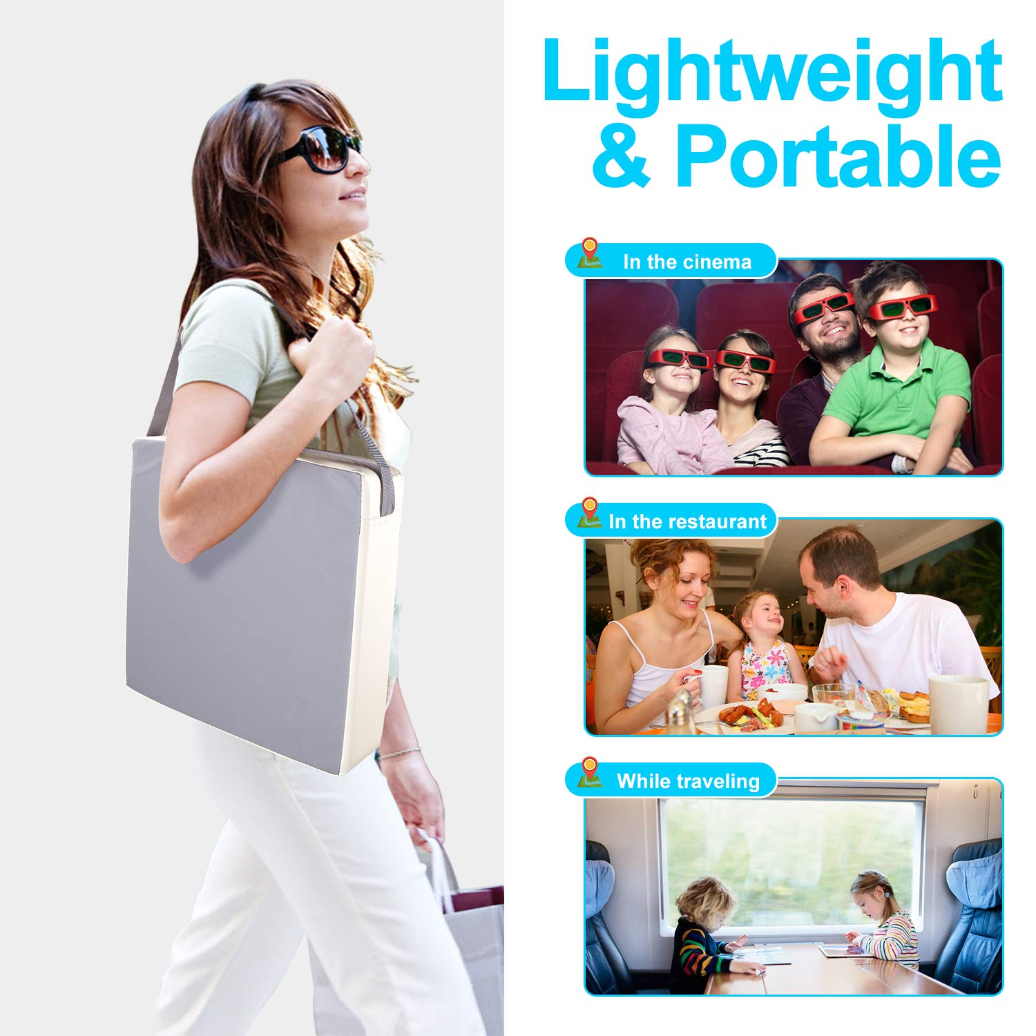 Portable Travel Increasing Cushion PU Washable 2 Straps Safety Buckle Kids Booster Seat for Kids Toddler Dining Booster Seat