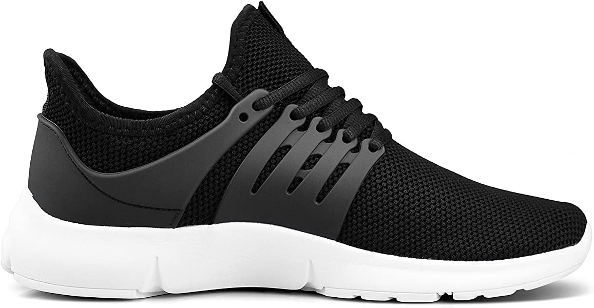 ad3103ffdf28d Women's Gym Shoes Lightweight Running Sneaker Sneakers for Women Black  White Size 9 M