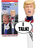 Donald Trump Talking Novelty Pen - 8 Different Sayings - Trump's REAL VOICE - Just Click and Listen - Funny Gifts for Trump & Hillary Fans - Superior Audio Quality -Replaceable Batteries Included