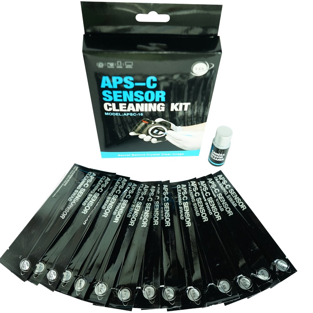 UES APSC-16 DSLR or SLR Digital Camera Cleaning Kit for APS-C Type Sensors (14 X 16mm Sensor Cleaning Swabs + 15ml Sensor Cleaner) Universal Electrical Supply Ltd