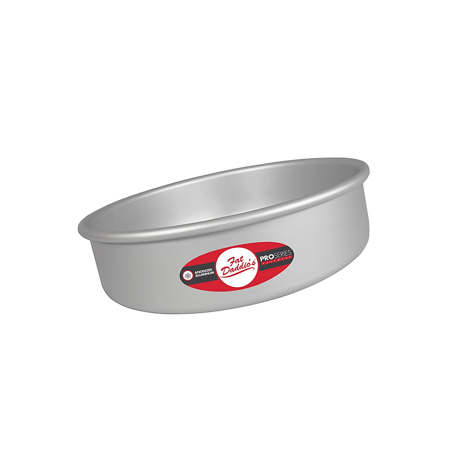 Fat Daddio's Anodized Aluminum Round Cake Pan, 6 Inches by 3 Inches