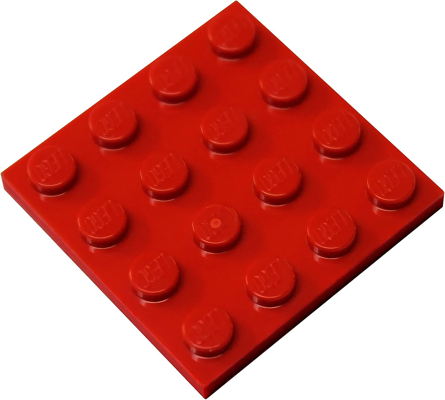 LEGO Parts and Pieces: Red (Bright Red) 4x4 Plate x10