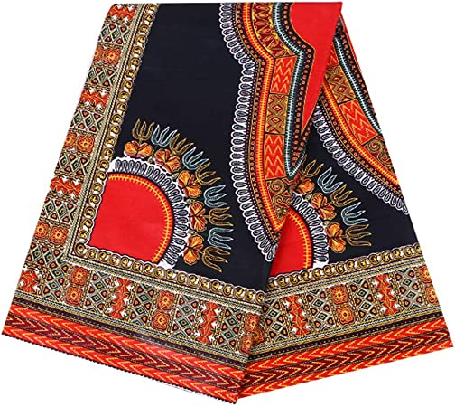 Multicolored Details about  / High quality Ankara African wax print fabric 6 yards 100/%cotton
