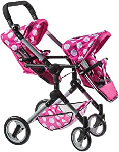 Amazon.com: Polka Dot Modern Twin Doll Stroller: Toys & Games