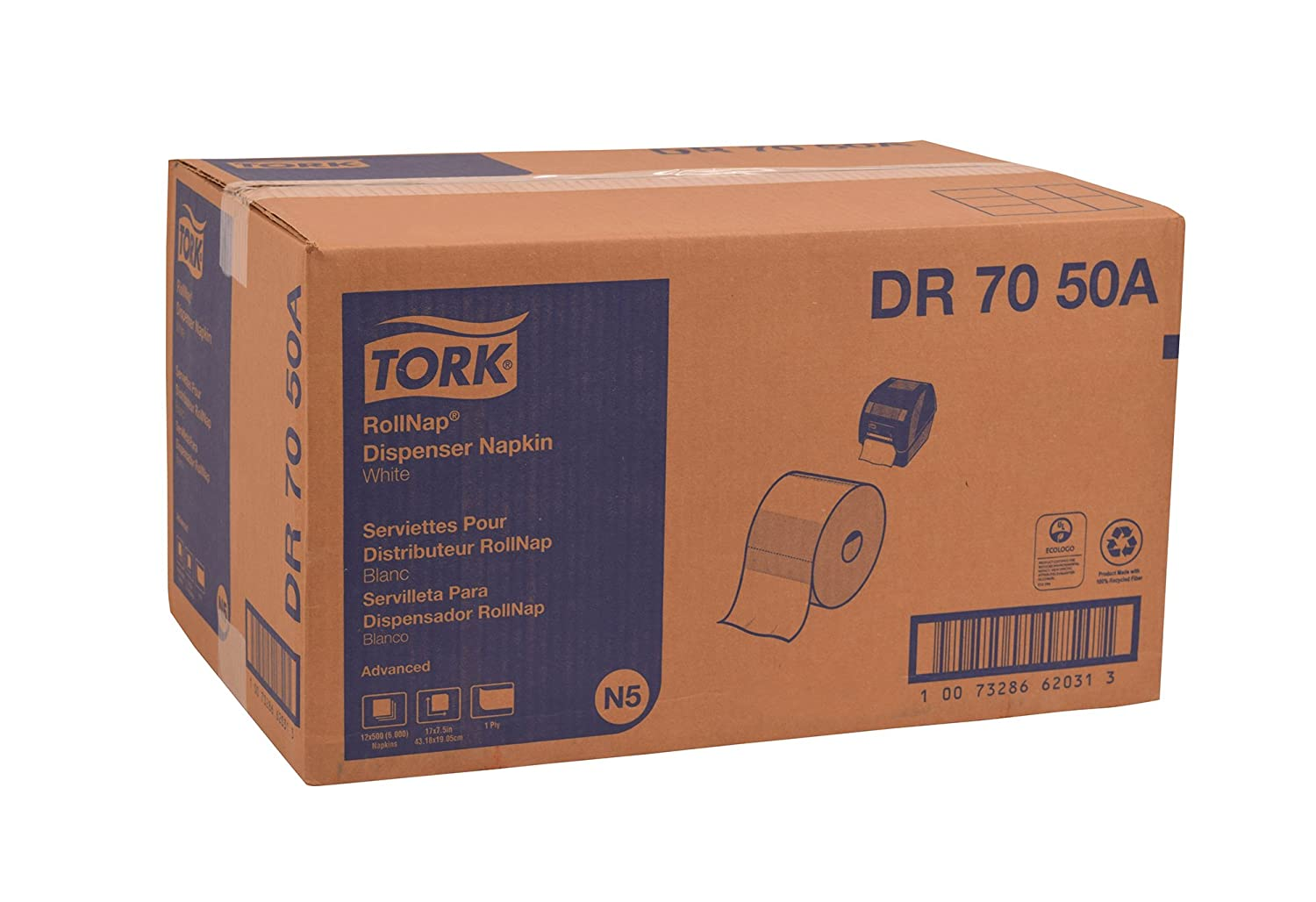 Amazon.com: Tork DR7050A Advanced RollNap Dispenser Napkin, 1-Ply, 7.5