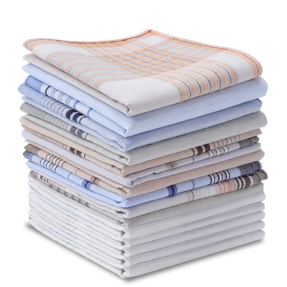 Accessories 20 Pieces Mens Cotton Handkerchiefs Pure Cotton Pocket ...