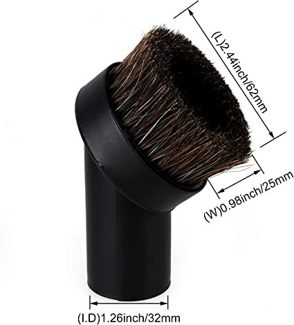 32mm Dusting Brush Dust Tool Attachment for Vacuum Cleaner Round Horse Hair T1