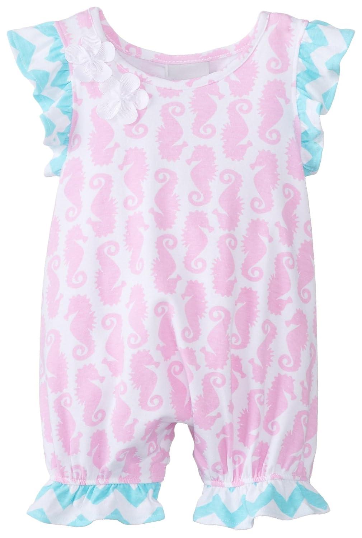 Flap Happy Baby-Girls Newborn Flutter Sleeve Romper