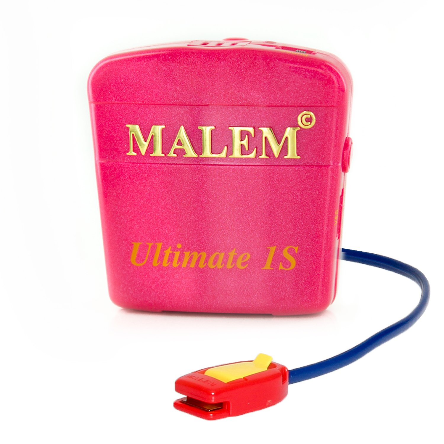 Malem Ultimate PRO Selectable Magenta Bedwetting Alarm with Vibration - Magenta by Malem