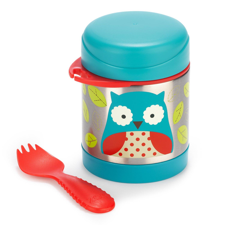 Skip Hop Zoo Insulated Child Spoon//Fork Kids Food Jar Includes Spork
