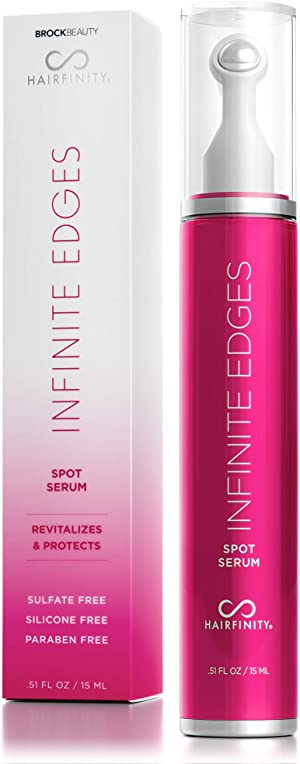 Hairfinity Infinite Edges Hair Serum - Hair Growth Treatment to Prevent Hair Loss and Stimulate Hair Follicles to Stop Hair Loss and Regrow Hair - Targets Causes of Alopecia - Sulfate & Silicone Free