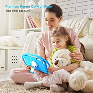 Kids Tablet 7 Android Kids Tablet for Toddlers Kids Friendly Learning Tablet with WiFi Camera Children's Tablets Android 9.0 1GB + 16GB Parental Control with Shockproof Case (Blue) (Color: Blue, Tamaño: 7 inch)