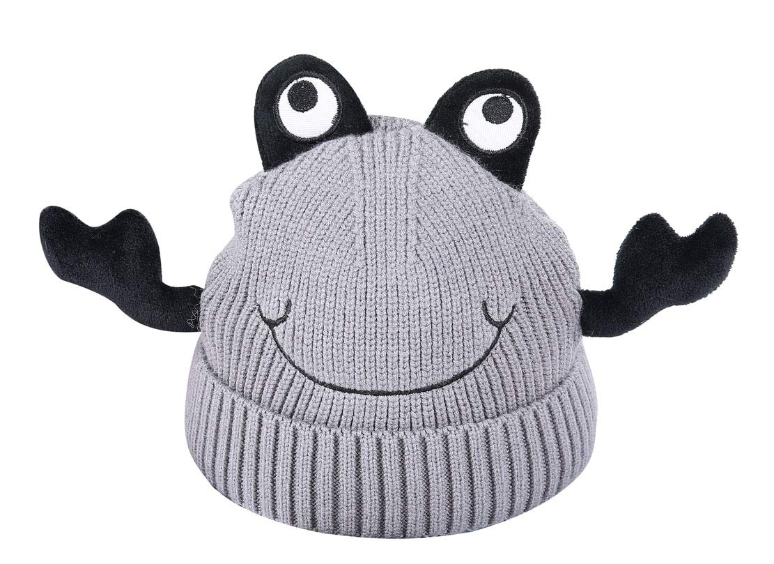 ACVIP Little Girl's Crab Shaped Knit Fancy Novelty Skull Cap (Grey) by ACVIP (Image #1)