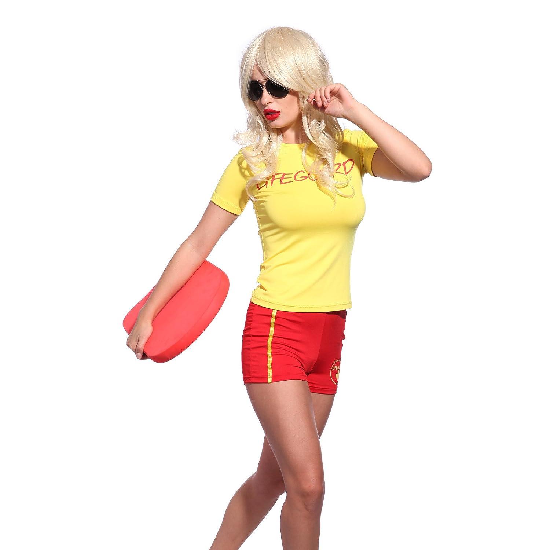Fun LIFE GUARD Lifegurad Beach Hen Party Costume Jill Riley Shauni McClain Etc Fancy Dress Shirt Top Shorts S Uk 4 6 Amazoncouk Clothing