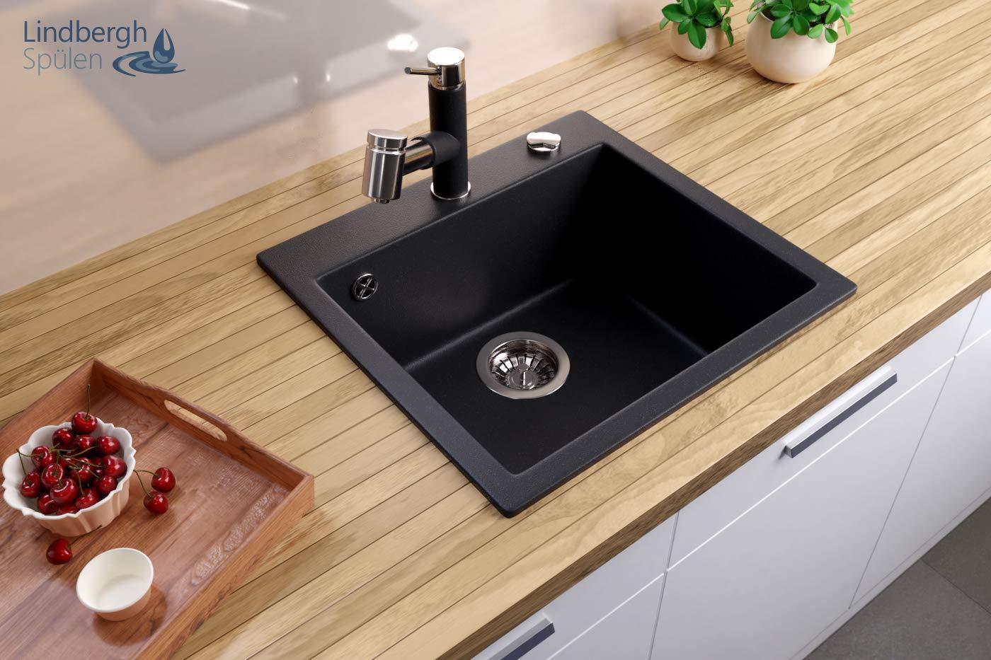 Siphon Einbauspüle Küchenspüle KÜCHE Becken LINDBERGH® Granit