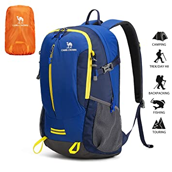 für die ganze Familie Luxusmode Super Qualität CAMEL CROWN 40L Hiking Trekking Rucksack Backpack with Rain Cover,  Waterproof Durable Camping Outdoor Travel Daypack for Cycling Climbing ...