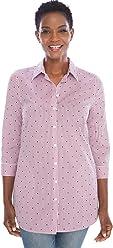 Chico's Women's No-Iron Cotton-Blend 3/4 Sleeve Pocket Tunic